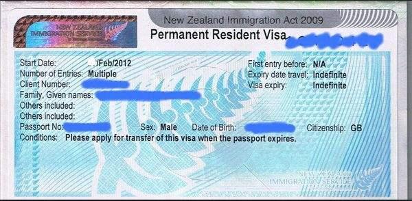 新西兰签证护照照片要求